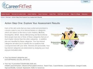 Action Step One_Exploring Your Assessment Results page one